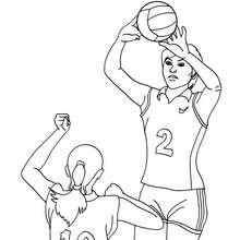 Dibujo de un pase de voleibol - Dibujos para Colorear y Pintar - Dibujos para colorear DEPORTES - Dibujos de VOLEIBOL para colorear