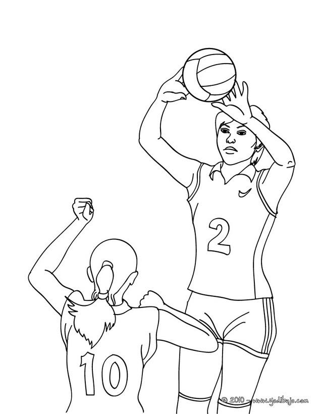 Imagenes De Voleibol Para Colorear