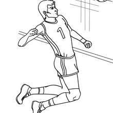 Dibujo para colorear : un remate de voleibol
