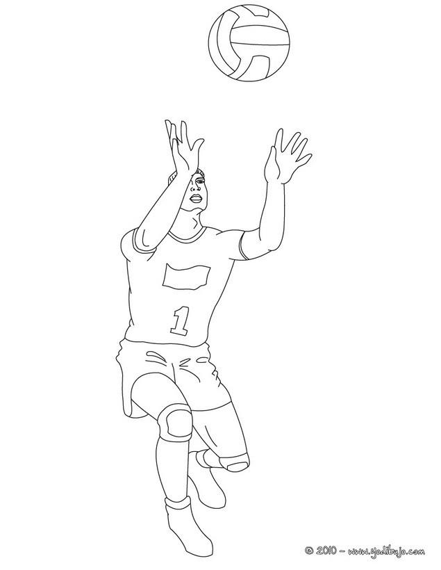 Dibujo para colorear : un pase de balon alto