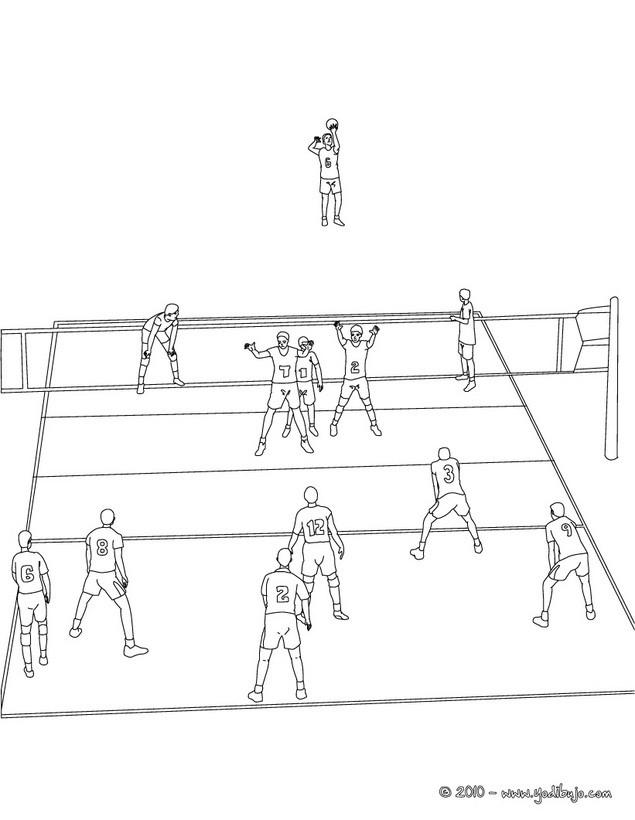 Fantástico Voleibol Para Colorear Bosquejo - Dibujos Para Colorear ...