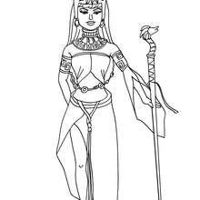 Dibujo de princesa azteca para colorear - Dibujos para Colorear y Pintar - Dibujos de PRINCESAS para colorear - Dibujos para colorear PRINCESA AZTECA