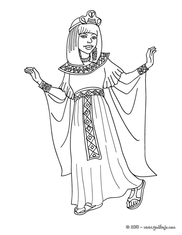 Dibujos para colorear princesa egipcia - es.hellokids.com