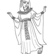 Dibujo de princesa egipcia para colorear - Dibujos para Colorear y Pintar - Dibujos de PRINCESAS para colorear - Dibujos PRINCESA EGIPCIA para colorear