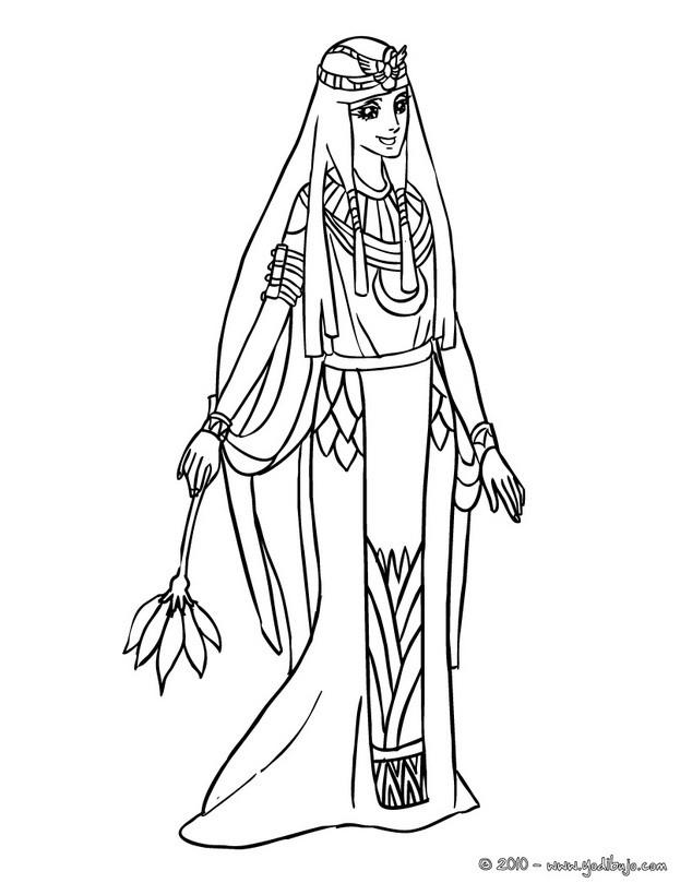 Dibujos para colorear princesa de egipto - es.hellokids.com