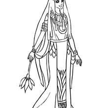 Dibujo para colorear princesa egipcia - Dibujos para Colorear y Pintar - Dibujos de PRINCESAS para colorear - Dibujos PRINCESA EGIPCIA para colorear