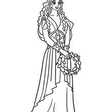 Dibujo para colorear princesa griega - Dibujos para Colorear y Pintar - Dibujos de PRINCESAS para colorear - Dibujos para colorear PRINCESA GRIEGA