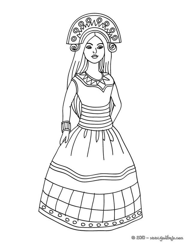 Dibujos para colorear princesa del sol - es.hellokids.com