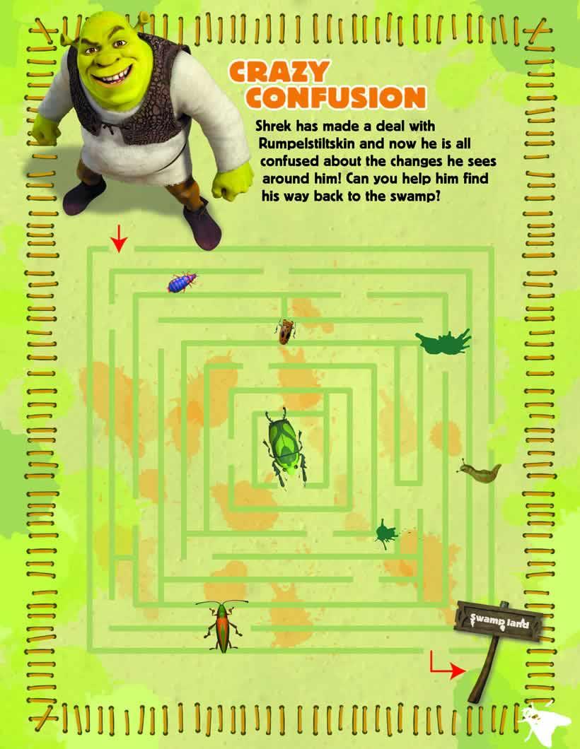 Juego de Shrek laberinto