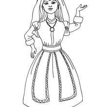 Dibujo de princesa marroqui para colorear - Dibujos para Colorear y Pintar - Dibujos de PRINCESAS para colorear - Dibujos de PRINCESA MARROQUI  para colorear