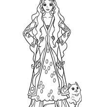 Dibujo para colorear princesa persa - Dibujos para Colorear y Pintar - Dibujos de PRINCESAS para colorear - Dibujos para colorear PRINCESA PERSA