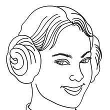Dibujo de princesa con rodetes para colorear - Dibujos para Colorear y Pintar - Dibujos de PRINCESAS para colorear - Dibujos para colorear RETRATO DE PRINCESA