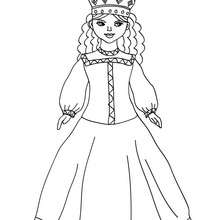 Dibujo de princesa rusa para colorear - Dibujos para Colorear y Pintar - Dibujos de PRINCESAS para colorear - Dibujos para colorear PRINCESA RUSA