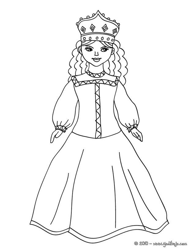 Dibujos para colorear princesa medieval   es.hellokids.com