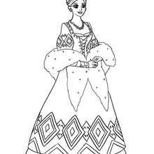 Dibujo para colorear princesa rusa - Dibujos para Colorear y Pintar - Dibujos de PRINCESAS para colorear - Dibujos para colorear PRINCESA RUSA