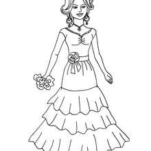 Dibujo de princesa española para colorear - Dibujos para Colorear y Pintar - Dibujos de PRINCESAS para colorear - Dibujos de PRINCESA ESPAÑOLA para colorear