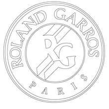 Dibujo de Roland Garros - Dibujos para Colorear y Pintar - Dibujos para colorear DEPORTES - Dibujos de TENIS para colorear - Dibujos para colorear OPEN TENIS ATP