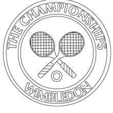 Dibujo de Wimbledon - Dibujos para Colorear y Pintar - Dibujos para colorear DEPORTES - Dibujos de TENIS para colorear - Dibujos para colorear OPEN TENIS ATP