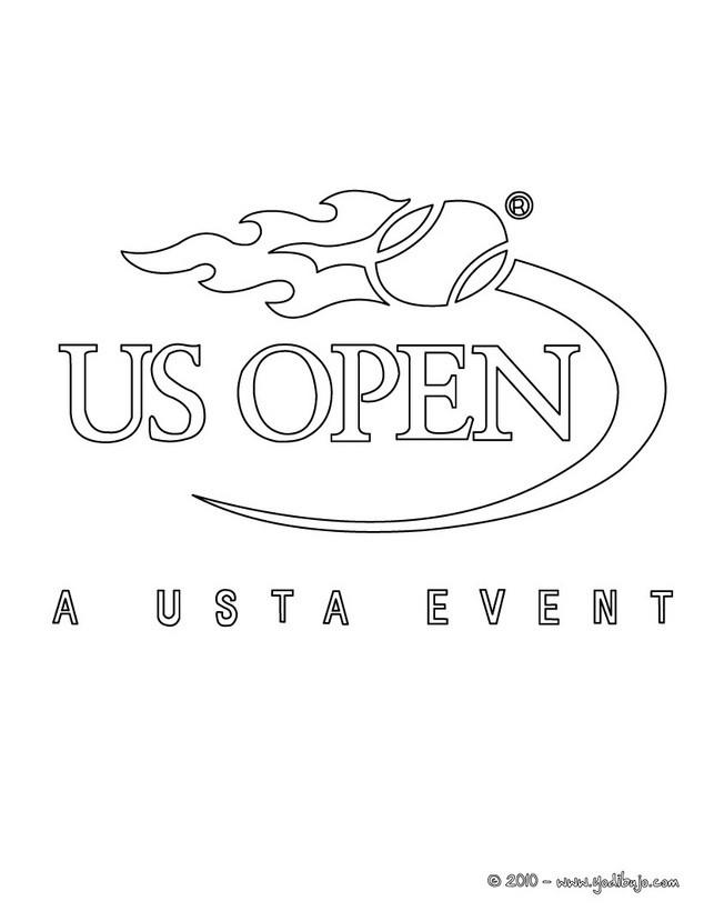Dibujos para colorear us open de tenis - es.hellokids.com