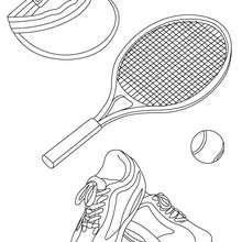 Dibujo del material de tenis - Dibujos para Colorear y Pintar - Dibujos para colorear DEPORTES - Dibujos de TENIS para colorear - Dibujos para colorear e imprimir TENIS