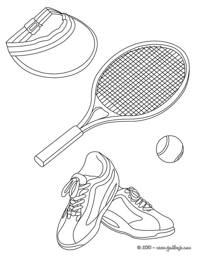 Dibujos de TENIS para colorear - 34 Dibujos para COLOREAR los ...