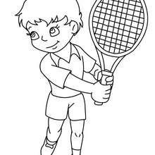 Dibujo de un golpe de tenis - Dibujos para Colorear y Pintar - Dibujos para colorear DEPORTES - Dibujos de TENIS para colorear - Dibujos para colorear GOLPES DE TENIS