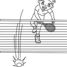 Dibujo de un mate de tenis para colorear - Dibujos para Colorear y Pintar - Dibujos para colorear DEPORTES - Dibujos de TENIS para colorear - Dibujos para colorear GOLPES DE TENIS