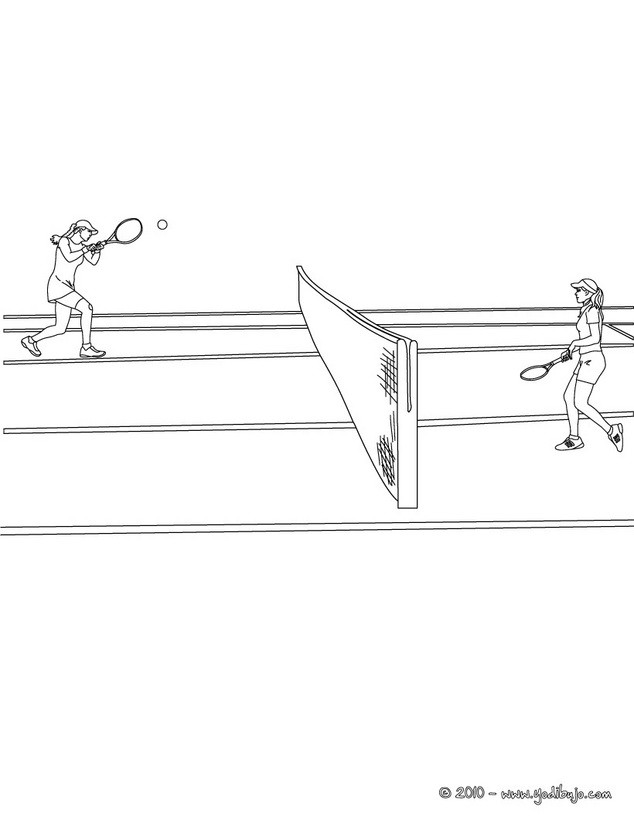 Dibujos para colorear torneo de tenis femenino - es.hellokids.com
