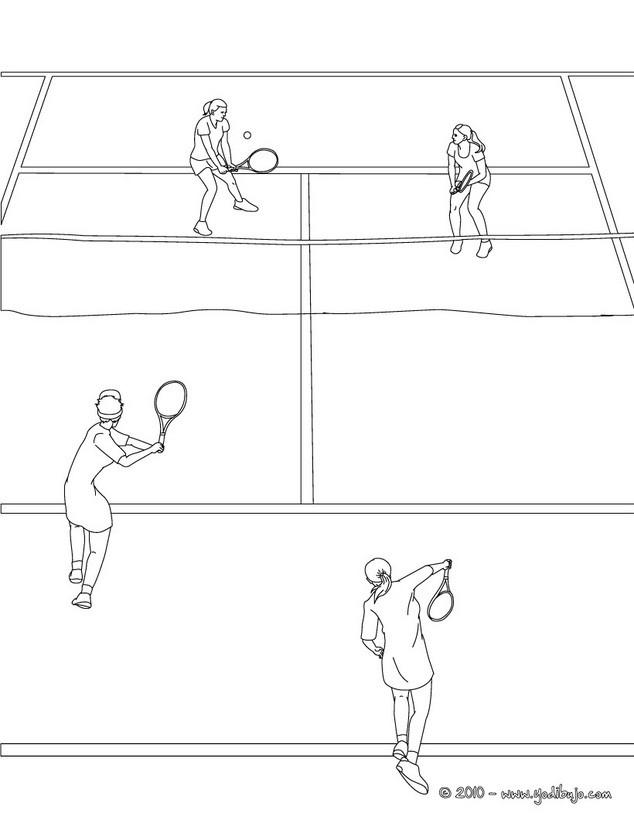 Único Cancha De Tenis Para Colorear Imagen - Dibujos Para Colorear ...