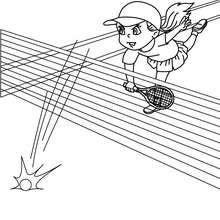 dibujo de un remate de tenis - Dibujos para Colorear y Pintar - Dibujos para colorear DEPORTES - Dibujos de TENIS para colorear - Dibujos para colorear GOLPES DE TENIS