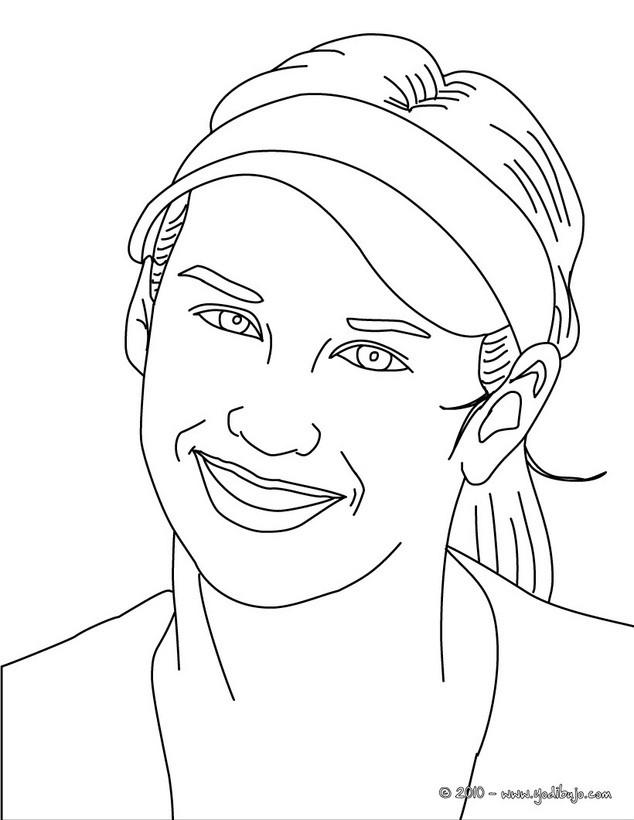 Dibujo para colorear : Retrato de Ana Kurnikova