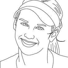 Retrato de Ana Kurnikova - Dibujos para Colorear y Pintar - Dibujos para colorear DEPORTES - Dibujos de TENIS para colorear - Dibujos para colorear JUGADORES DE TENIS ATP - Dibujos de ANA KURNIKOVA  para colorear