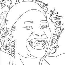 Dibujo para colorear : Retrato de Serena Williams