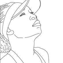 Dibujo para colorear : Retrato de Venus Williams
