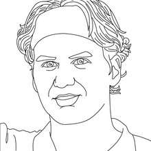 Retrato de Roger Federer - Dibujos para Colorear y Pintar - Dibujos para colorear DEPORTES - Dibujos de TENIS para colorear - Dibujos para colorear JUGADORES DE TENIS ATP - Dibujos de ROGER FEDERER para colorear