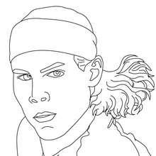 Retrato de Rafael Nadal - Dibujos para Colorear y Pintar - Dibujos para colorear DEPORTES - Dibujos de TENIS para colorear - Dibujos para colorear JUGADORES DE TENIS ATP - Dibujos de RAFA NADAL para colorear
