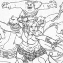 Dibujos de FIONA con los ogros para colorear - Dibujos para Colorear y Pintar - Dibujos de PELICULAS colorear - Dibujos para colorear SHREK