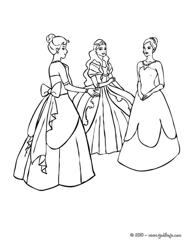 Dibujos Para Colorear Vestidos De Princesas Eshellokidscom