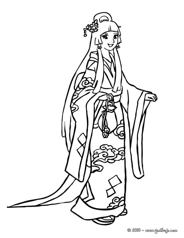 Dibujo para colorear : Princesa Mongola