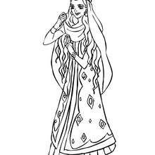 Dibujo para colorear princesa marroqui - Dibujos para Colorear y Pintar - Dibujos de PRINCESAS para colorear - Dibujos de PRINCESA MARROQUI  para colorear