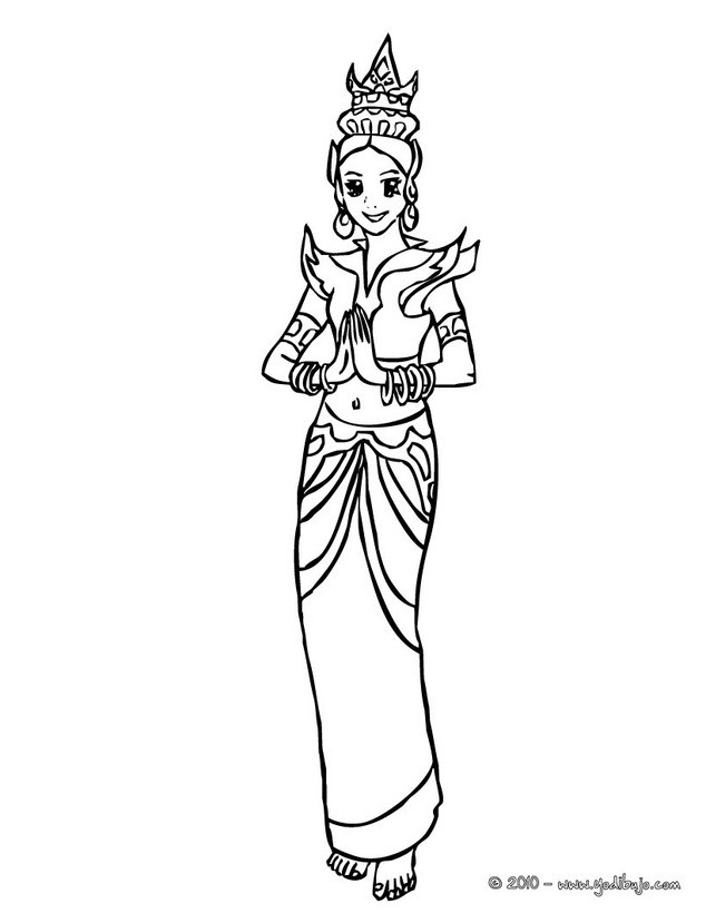 Dibujos para colorear princesas - es.hellokids.com