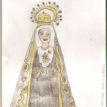 Ilustración : Dibujo de la virgen de la Soledad (Sergio 6 años)
