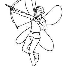 Dibujo para colorear : un elfo guerrero