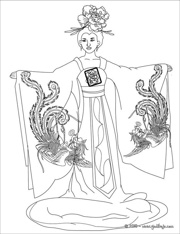 Dibujos para colorear princesa Árabe - es.hellokids.com