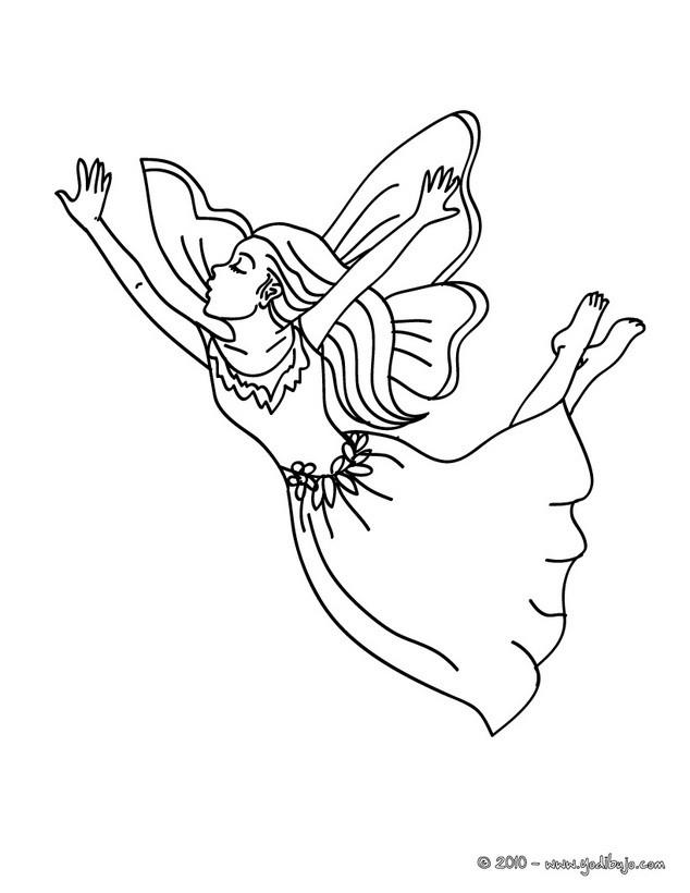 Dibujos para colorear HADAS - 43 dibujos de fantasía para colorear ...