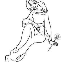 Dibujo de una hada con su varita magica para colorear - Dibujos para Colorear y Pintar - Dibujos para colorear de FANTASIA - Dibujos para colorear HADAS - Dibujos de VARITA DE HADA para colorear