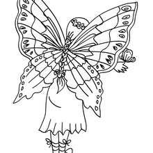 Dibujo para colorear : Hada Mariposa