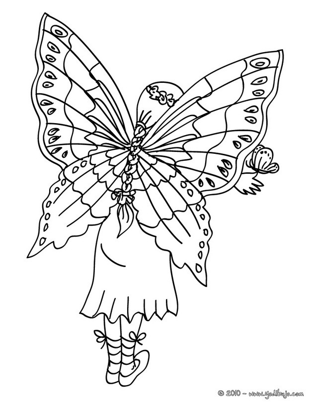 fairy wings coloring pages