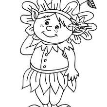 Dibujo para colorear un elfo chistoso - Dibujos para Colorear y Pintar - Dibujos para colorear de FANTASIA - Dibujos de ELFOS para colorear - Colorear ELFOS CHISTOSOS