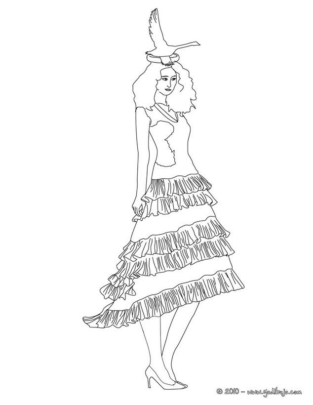 Dibujo para colorear : Princesa Embajadora de Paz